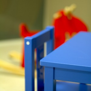 Zona de juegos en pediatría en Estepona